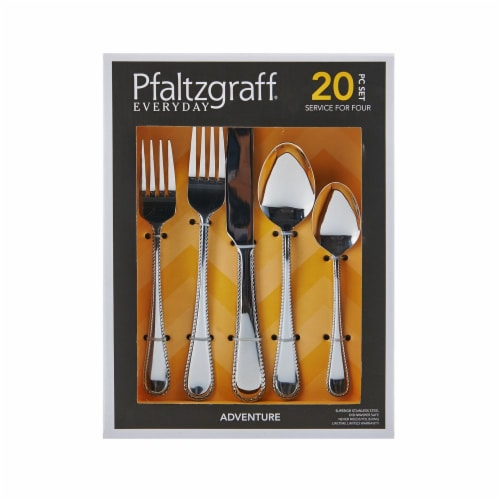 Pfaltzgraff Adventure Everyday Flatware Set - Stainless Steel Perspective: front