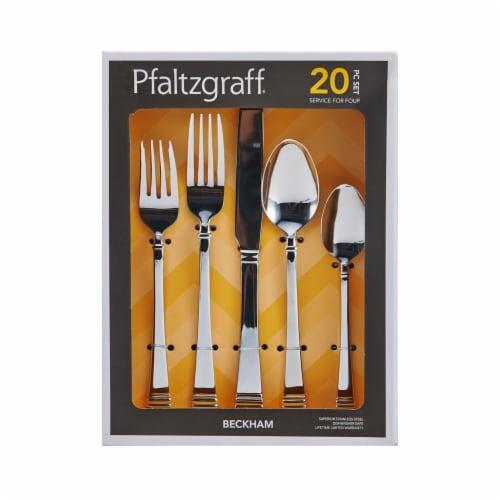 Pfaltzgraff Beckham Flatware Set 20 Piece Perspective: front
