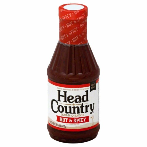 Head Country Hot Barbecue Sauce Perspective: front