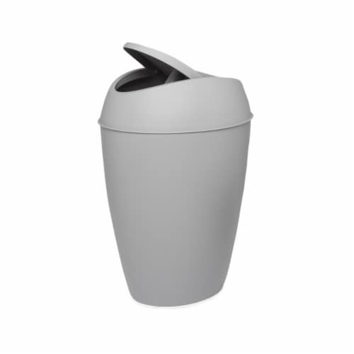 Umbra 1009613-918 2.2 gal Twirla Trash Can with Swing-Top Lid - Gray Perspective: front