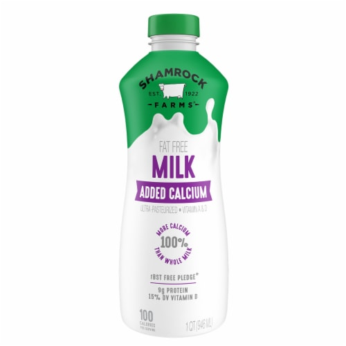 Shamrock Farms Fat Free Milk plus Calcium Perspective: front