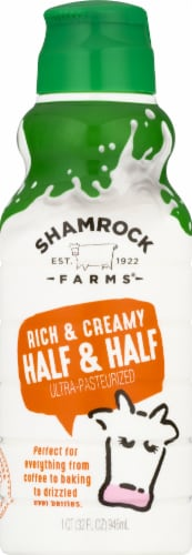 Shamrock Farms Ultra Pasteurized Half & Half Perspective: front