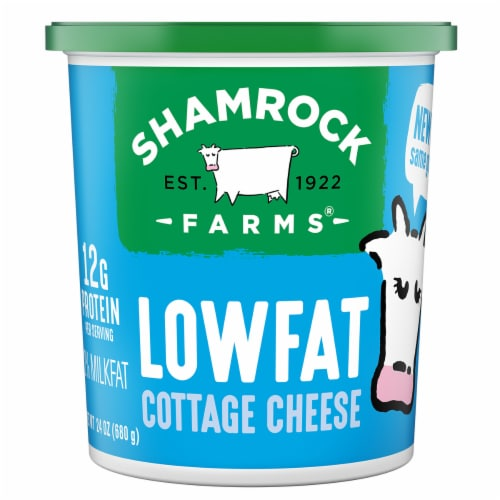 Shamrock Farms Low Fat Cottage Cheese Perspective: front