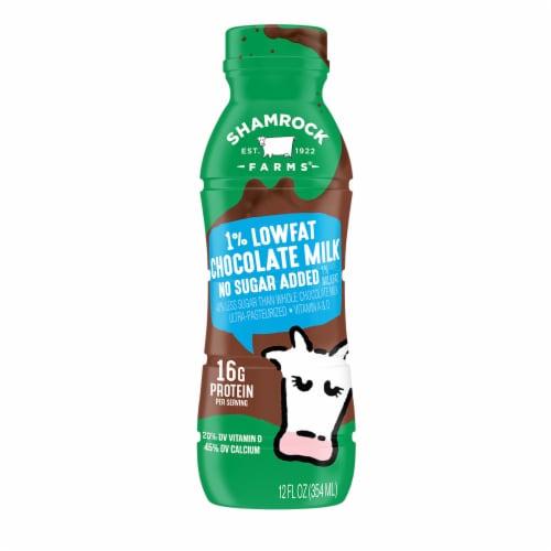 Shamrock Farms 1% No Sugar Addec Lowfat Chocolate Milk Perspective: front