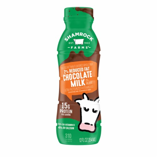 Shamrock Farms 2% Reduced Fat Chocolate Milk Perspective: front