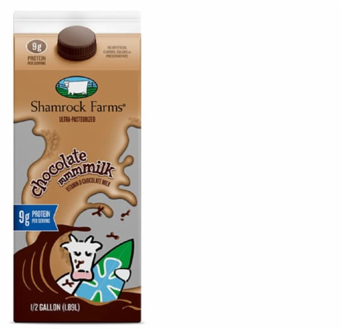 Shamrock Farms Chocolate Whole Milk Perspective: front