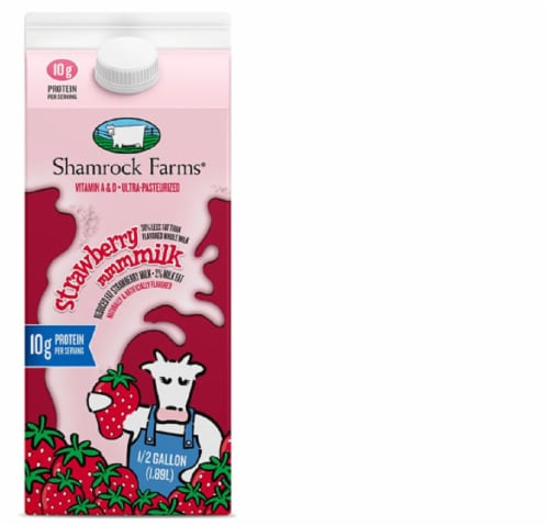 Shamrock Farms Strawberry Milk Perspective: front