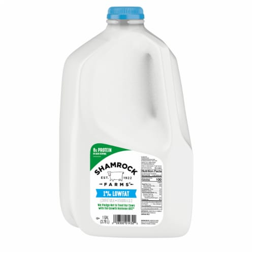 Shamrock Farms 1% Low Fat Milk Perspective: front