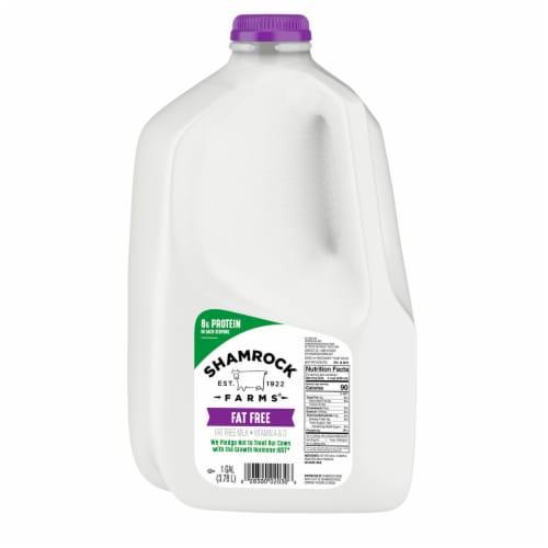 Shamrock Farms Fat Free Skim Milk Perspective: front