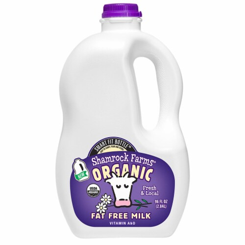 Shamrock Farms Organic Fat Free Milk Perspective: front