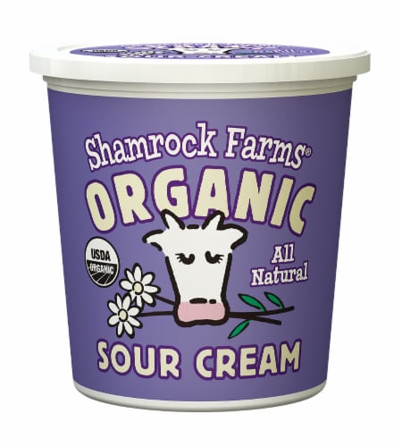 Shamrock Farms Organic Sour Cream Perspective: front