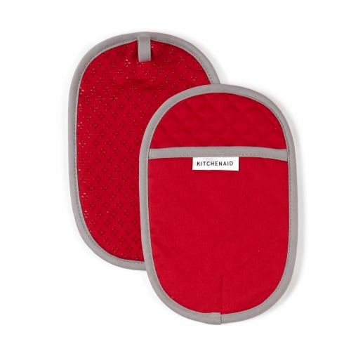 KitchenAid Asteroid Pot Holder Set - 2 Pack - Red Perspective: front