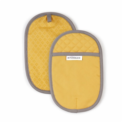 KitchenAid Asteroid Pot Holder Set - 2 Pack - Yellow Perspective: front