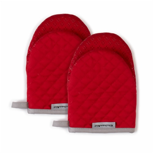 KitchenAid Asteroid Mini Oven Mitt Set - 2 Pack - Red Perspective: front