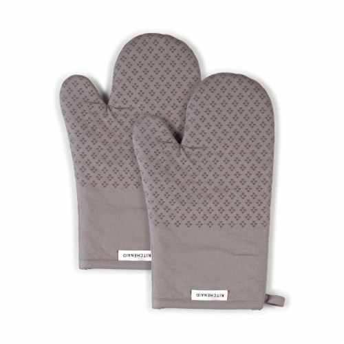 KitchenAid Asteroid Oven Mitt Set - 2 Pack - Gray Perspective: front