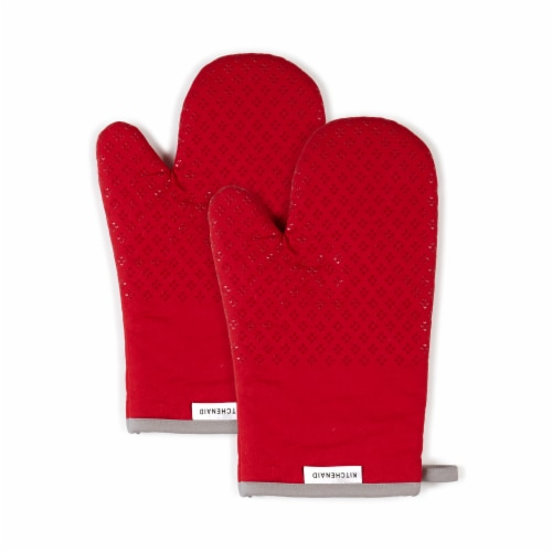 KitchenAid Asteroid Oven Mitt Set - 2 Pack - Red Perspective: front