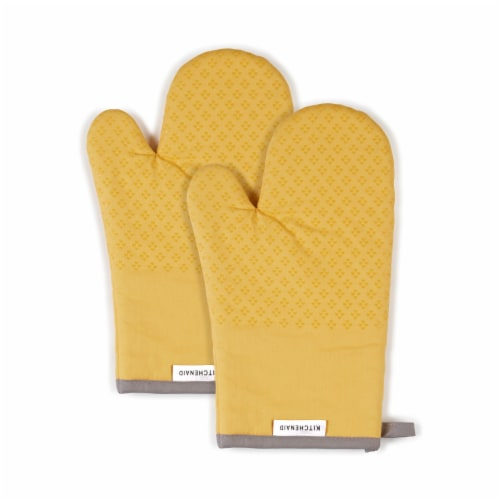 KitchenAid Asteroid Oven Mitt Set - 2 Pack - Yellow Perspective: front