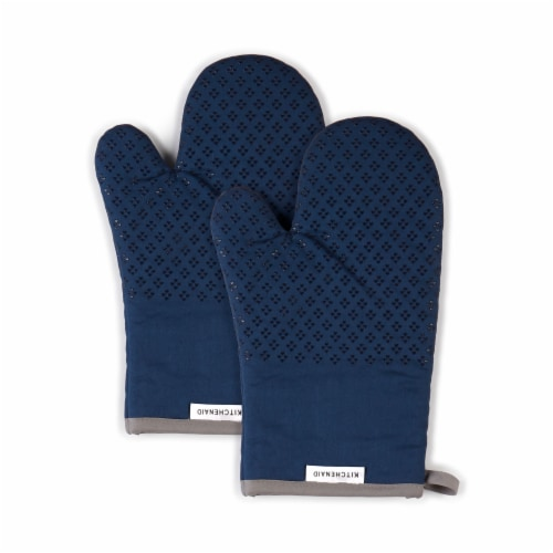 KitchenAid Asteroid Oven Mitt Set - 2 Pack - Blue Perspective: front