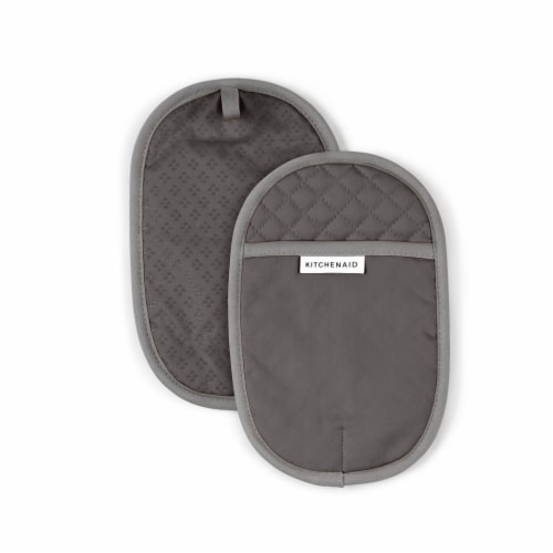 KitchenAid Asteroid Pot Holder Set - 2 Pack - Charcoal Gray Perspective: front