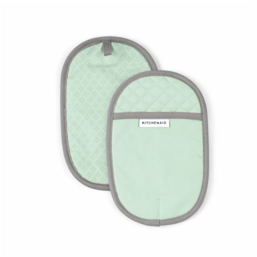 KitchenAid Asteroid Pot Holder Set - 2 Pack - Green Perspective: front