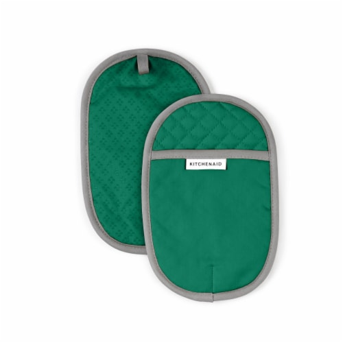 KitchenAid Asteroid Pot Holder Set -2 Pack - Green Perspective: front