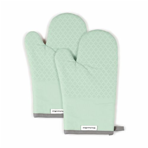 KitchenAid Asteroid Oven Mitt Set - 2 Pack - Green Perspective: front