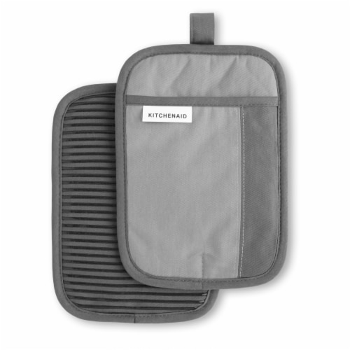 KitchenAid Beacon Pot Holder Set - 2 Pack - Gray / Silver Perspective: front