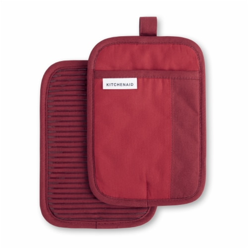 KitchenAid Beacon Pot Holder Set - 2 Pack - Red / Dark Red Perspective: front