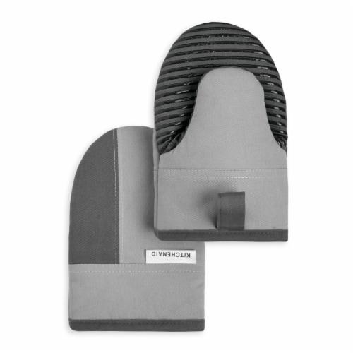 KitchenAid Beacon Mini Oven Mitt Set - 2 Pack - Gray / Silver Perspective: front
