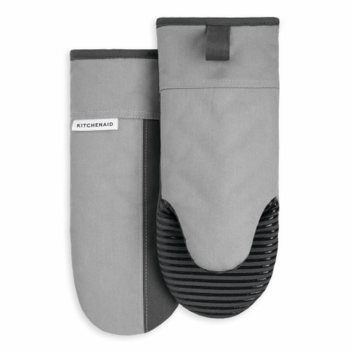 KitchenAid Beacon Oven Mitt Set - 2 Pack - Gray / Silver Perspective: front