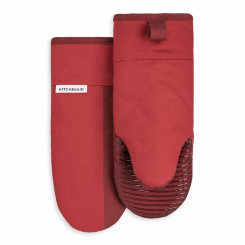 KitchenAid Beacon Oven Mitt Set - 2 Pack - Red / Dark Red Perspective: front