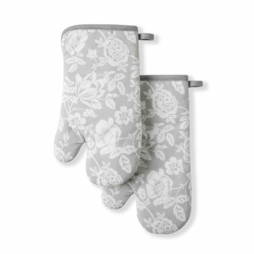 Martha Stewart Floral Vine Oven Mitts Perspective: front