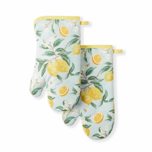 Martha Stewart Lemon Whimsy Oven Mitts Perspective: front
