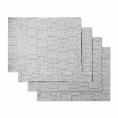 Martha Stewart Honeycomb Rectangle Placement - Gray Perspective: front