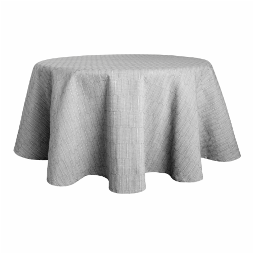 Martha Stewart Honeycomb Round Tablecloth - Gray Perspective: front
