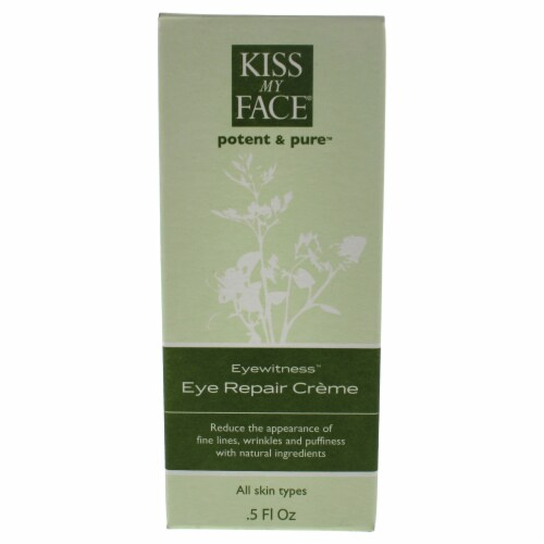 Eyewitness Eye Repair Cream by Kiss My Face for Unisex - 0.5 oz Cream Perspective: front