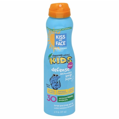 Kiss My Face Kids Defnse Spray Sunscreen SPF 30 Perspective: front