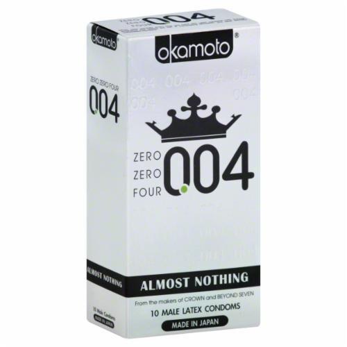 Okamoto Zero Zero Four Condoms Perspective: front