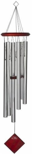 Woodstock Encore® Collection Chimes of Earth Wind Chimes - Silver Perspective: front