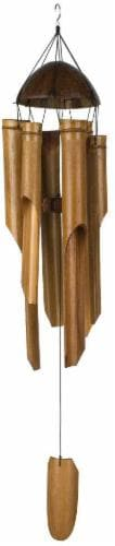 Woodstock Asli Arts® Collection Half Coconut Bamboo Chime - Brown Perspective: front