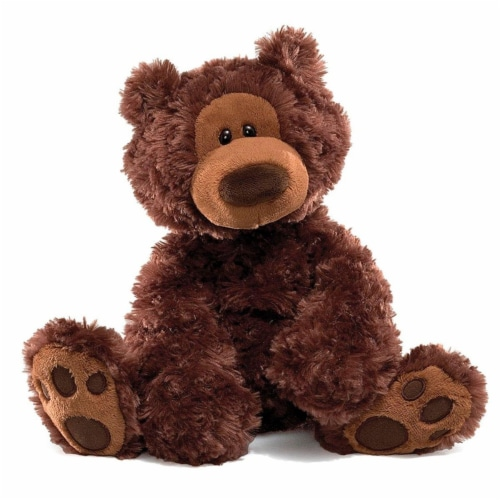 Philbin Teddy Bear 12-Inch Plush Toy | Chocolate Brown Perspective: front