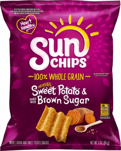 SunChips Sweet Potato & Brown Sugar Chips Perspective: front