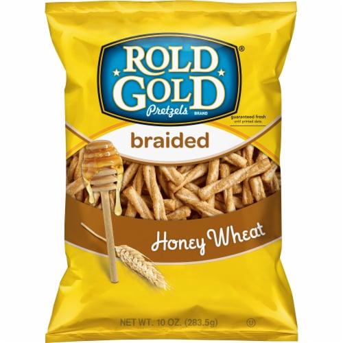 Rold Gold Braided Honey Wheat Pretzel Sticks Snacks Perspective: front