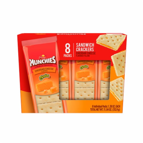 Munchies Snack Crackers Cheddar Cheese Sandwich Perspective: front