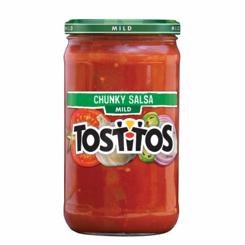 Tostitos Mild Chunky Salsa Dip Perspective: front