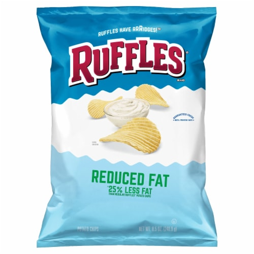 Ruffles Reduced Fat Potato Chips Perspective: front