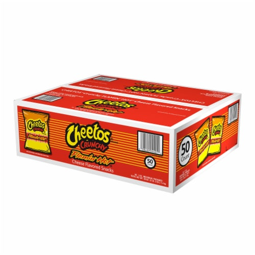 Cheetos® Crunchy Flamin' Hot® Cheese Flavored Snacks Perspective: front
