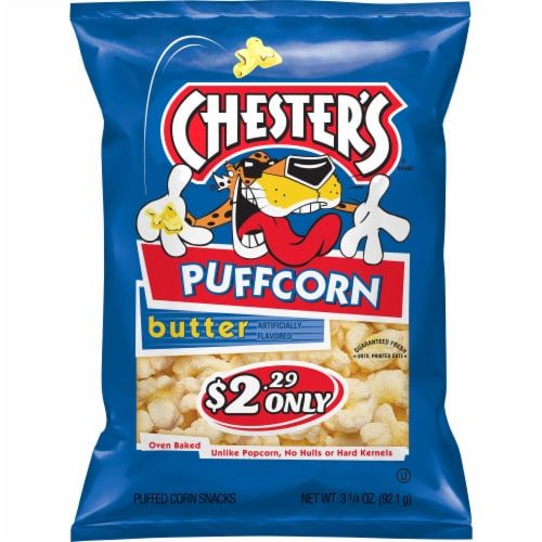Chester's Butter Puffcorn Baked Corn Snack Perspective: front