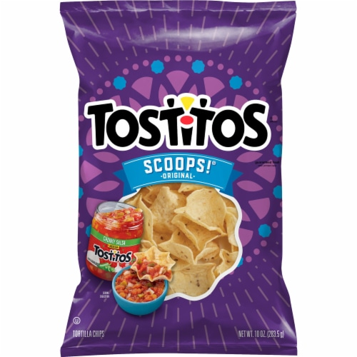 Tostitos Scoops Tortilla Chips Snacks Perspective: front