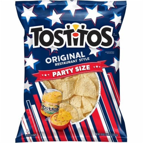 Tostitos Original Restaurant Style Tortilla Chips Party Size Perspective: front